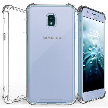 Galaxy J7 2018/Refine/Star Case Clear, Beyond Cell [Aquaflex] Transparent Flexible TPU [Shock Absorbing] Bumper Cover for Samsung Galaxy J7 (2018) SM-J737, J7 Refine, J7 Star, J7 Aero