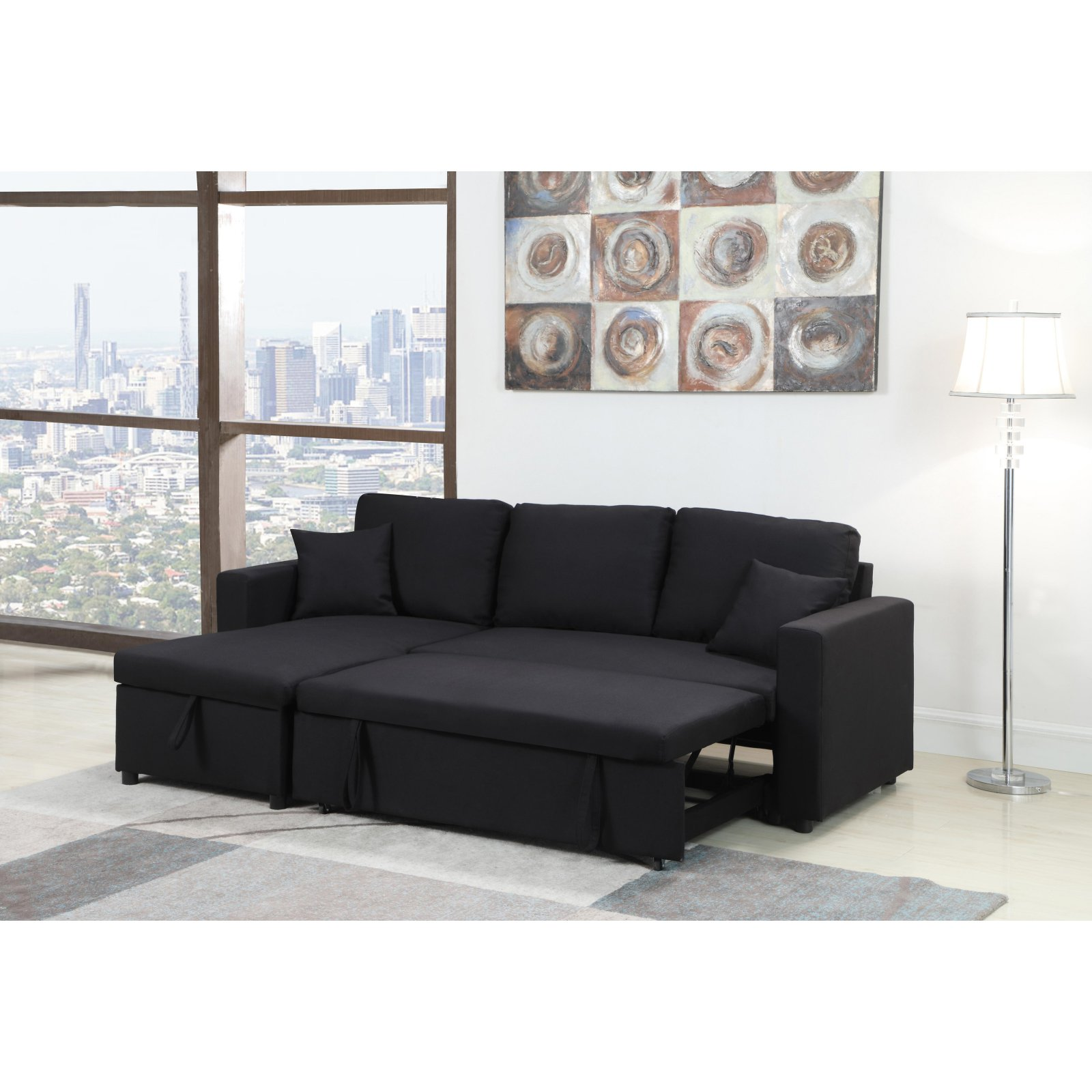 Picture of: Milton Greens Stars Kathy Reversible Storage Pull Out Bed Sectional Walmart Com Walmart Com