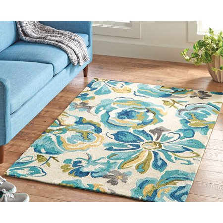 Better Homes And Gardens Blooming Peonies Floral 4 X 6 Area Rug