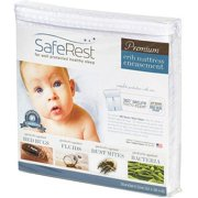 """SafeRest Premium Hypoallergenic Waterproof Certified Bed Bug Proof Crib Mattress Encasement - Vinyl, PVC and Phthalate Free - (52"""" x 28 x 6 in.)"""