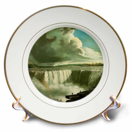 3dRose Niagara Falls from Table Rock vintage Vanderlyn, Porcelain Plate, - Niagara Falls Plate