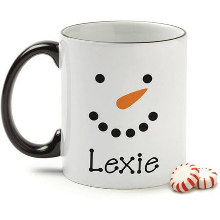 Personalized Snowman Face Coffee Mug