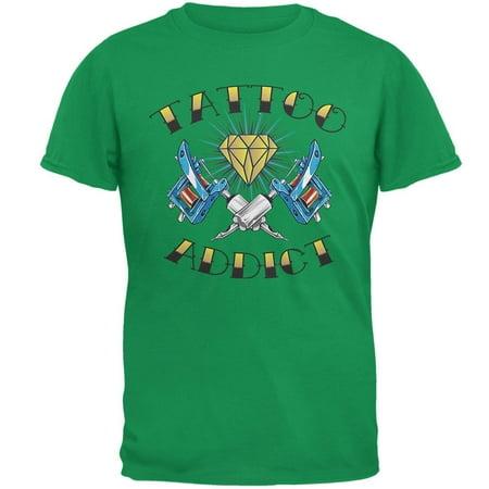 Tattoo Addict Irish Green Adult T-Shirt