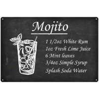 Mojito...Ingredients Drink Cocktail Bar Metal Sign 12x18 2180008068