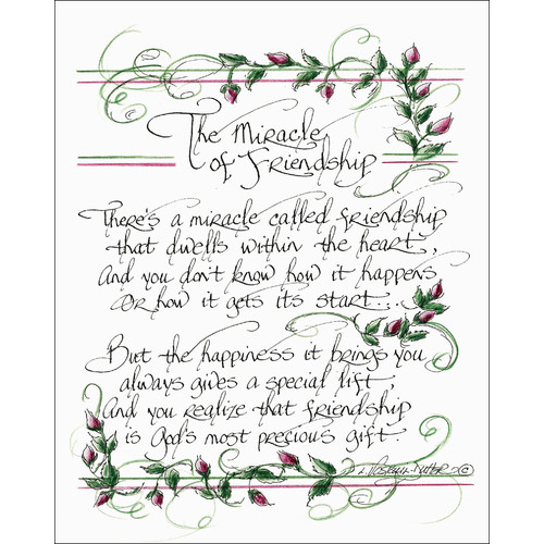 LPG Greetings Life Lines The Miracle of Friendship by Lori Voskuil-Dutter Graphic Art Plaque