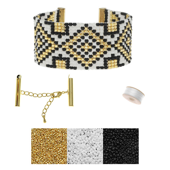 Refill - Gatsby Loom Bracelet - Gold - Exclusive Beadaholique Jewelry Kit