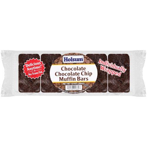 Holsum Chocolate Chocolate Chip Muffin Bars, 5 count, 10 oz