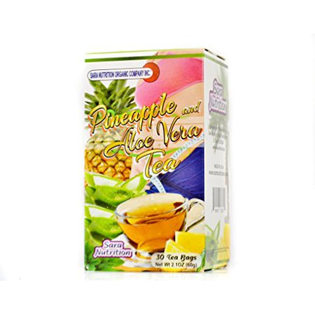 Bajar de Peso Weight Loss  Pineapple fennel seed aloe vera stevia Pi?a y Aloe Vera T? Tea 30 Tea bags