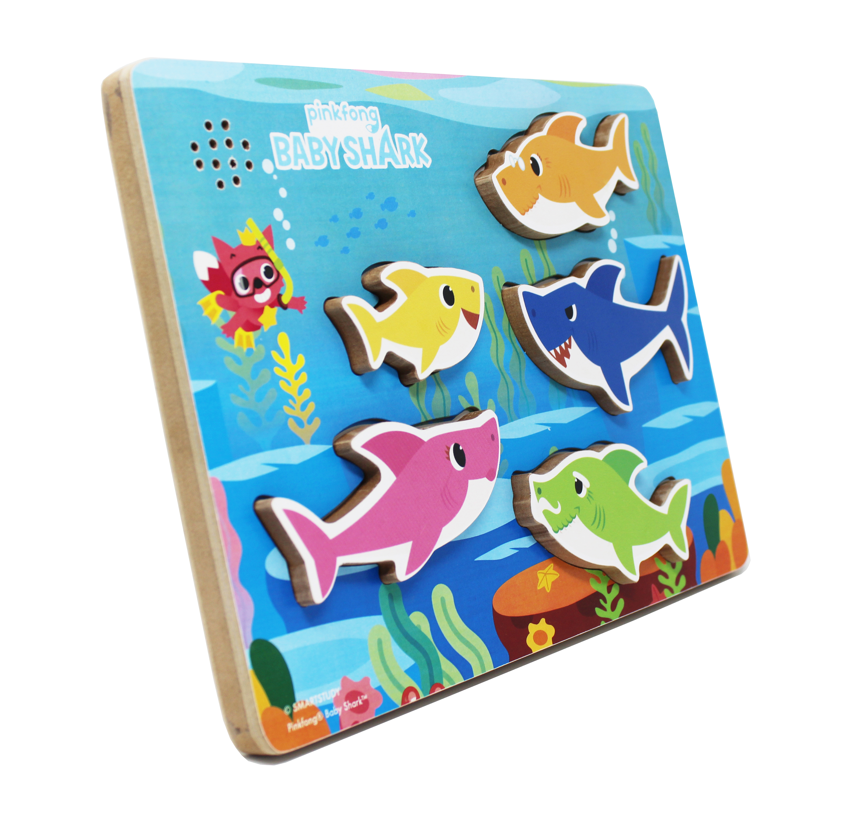 Baby Shark Musical Wooden Puzzle