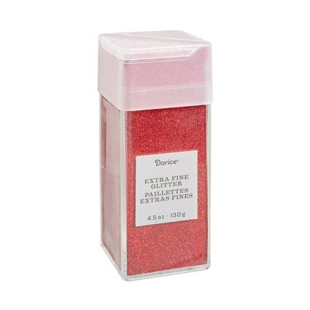 Extra Fine Glitter: Cherry Red, 4.5 ounces (Red Glitter)