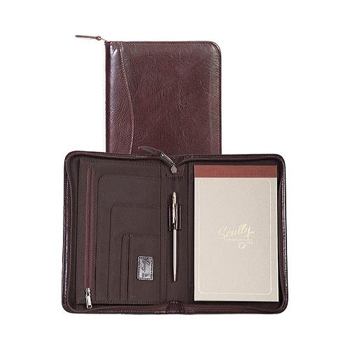 "Scully Junior Zip Padfolio Italian Leather 5019Z  6.5"" x 9.625"" x 1"""