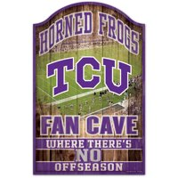 Wincraft 3208584677 TCU Horned Frogs Wood Fan Cave Design Sign - 11 x 17 in.