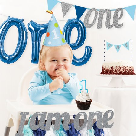 Boy's 1st Birthday Party Decorations Kit (Boy 1st Birthday Party Supplies)