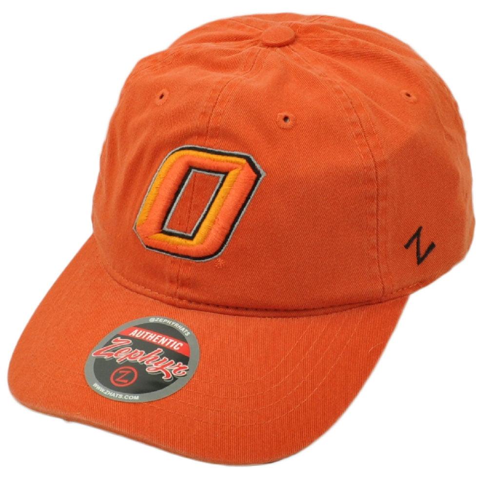 NCAA Zephyr Oklahoma State Cowboys Orange Hat Cap Adjustable Garment Wash Relax