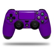 Skin Wrap for Sony PS4 Dualshock Controller Solids Collection Purple (CONTROLLER NOT INCLUDED)