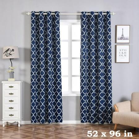 Balsacircle 52 X 96 Inch Lattice Design Curtains Drapes Panels Window Treatments Home Decorations