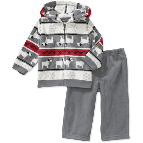 Child of Mine Carters Newborn Boys' 2-Piece Pattern Hoodie and Pant Set