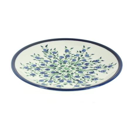 Blue Rose Polish Pottery Porcelain Vine Dessert Plate (Pottery Blue Vine)