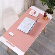 SPRING PARK Anti-slip Waterproof Multi-function Desk Mouse Mat,Large Pink Waterproof Office Desk Protector Mat Laptop Keyboard Computer Mouse Pad