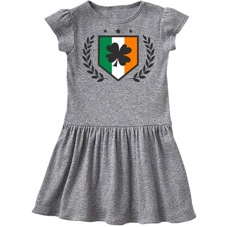 St Patricks Day Irish Flag Shield and Shamrock Toddler Dress - St Patricks Dress