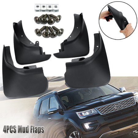 4x Car Front Rear Mud Flaps Splash Guards Mudflaps For Ford Explorer 2011-2018