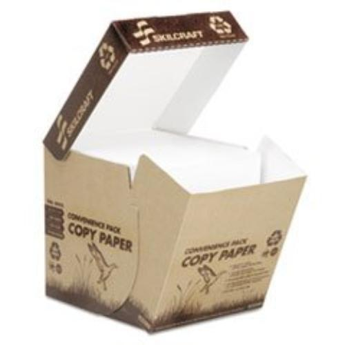 "Skilcraft Copy & Multipurpose Paper - For Inkjet, Laser Print - Letter - 8.50"" X 11"" - 20 Lb - Recycled - Matte - 92 Brightness - 2500 / Box - White (nsn-6110277)"