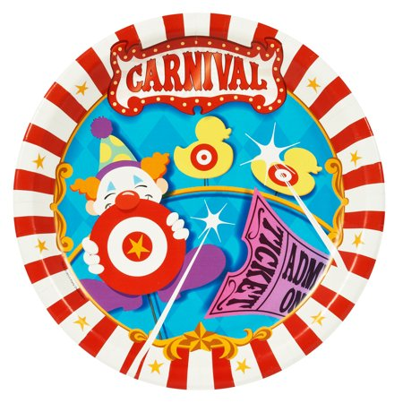 Carnival Party Party Supplies Dinner Plates for 8 AMZ ONLY](Carnival Ideas For School)