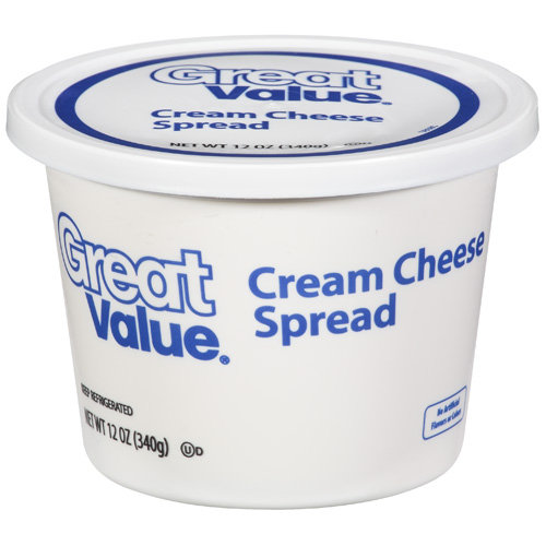 Great Value Cream Cheese Spread, 12 oz