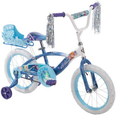 Huffy 16 Inches Girls 'Frozen' Bike with Doll Carrier Sle...