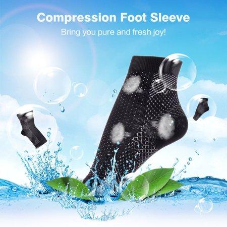 Men Women Feet Heel Ankles Compression Sock Anti Fatigue Varicose Feet Sleeve - image 7 de 11
