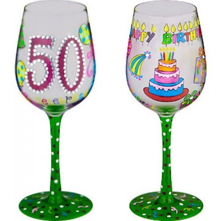 95 & Sunny 50 Better Than Ever-Bottoms Up Wine Glass by