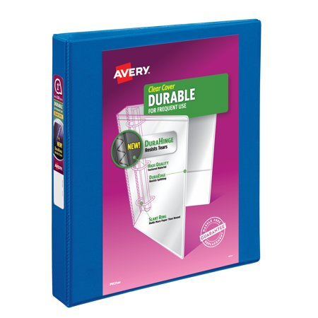"Avery 1"" Durable View Binder, Slant Ring, Blue, 220 Sheets"
