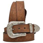 3D D122-28 Angel Ranch Womens Floral Brown Belt - Size 28