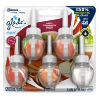 Glade PlugIns Refill 5 CT, Apple Cinnamon, 3.35 FL. OZ. Total, Scented Oil Air Freshener