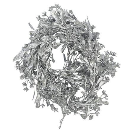Boxwood Garland: Silver, 3 inches x 5 feet (Faux Boxwood Garland)