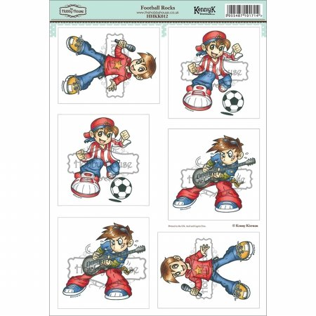 Hobby House HHKK012 Kenny Topper Sheet, 8.3 by 12.2-Inch, Football Rocks Multi-Colored