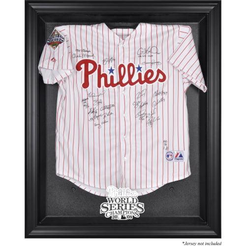 Philadelphia Phillies Fanatics Authentic 2008 World Series Champions Black Framed Logo Jersey Display Case - No Size