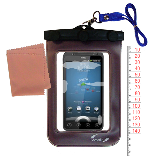 Gomadic Clean and Dry Waterproof Protective Case Suitablefor the HTC Shooter to use Underwater