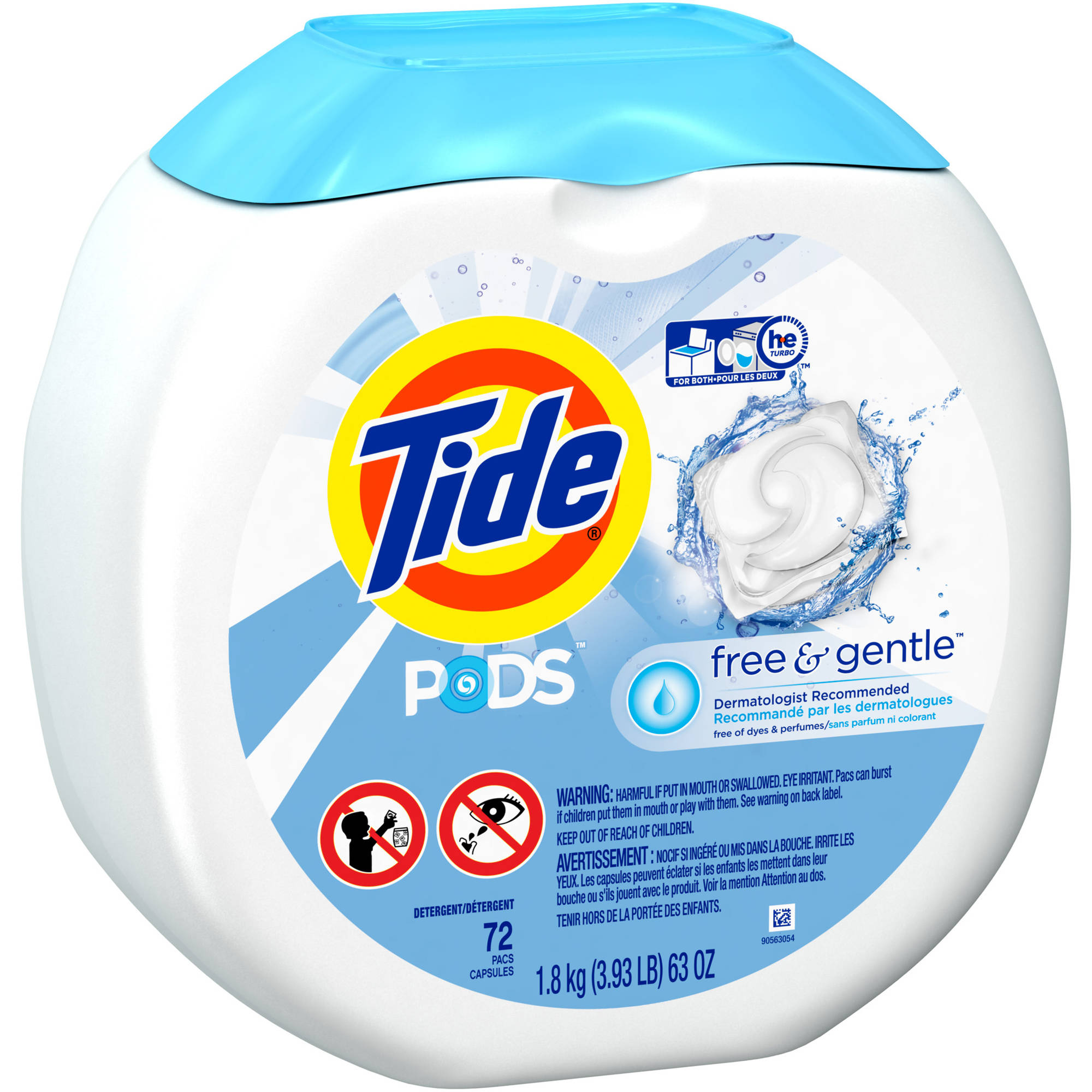 Tide PODS Free & Gentle Laundry Detergent, (Choose Your Count)