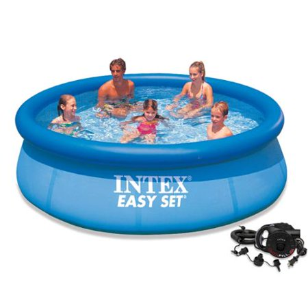 Intex 10 39 x 30 easy set above ground swimming pool with for Above ground pools quick set