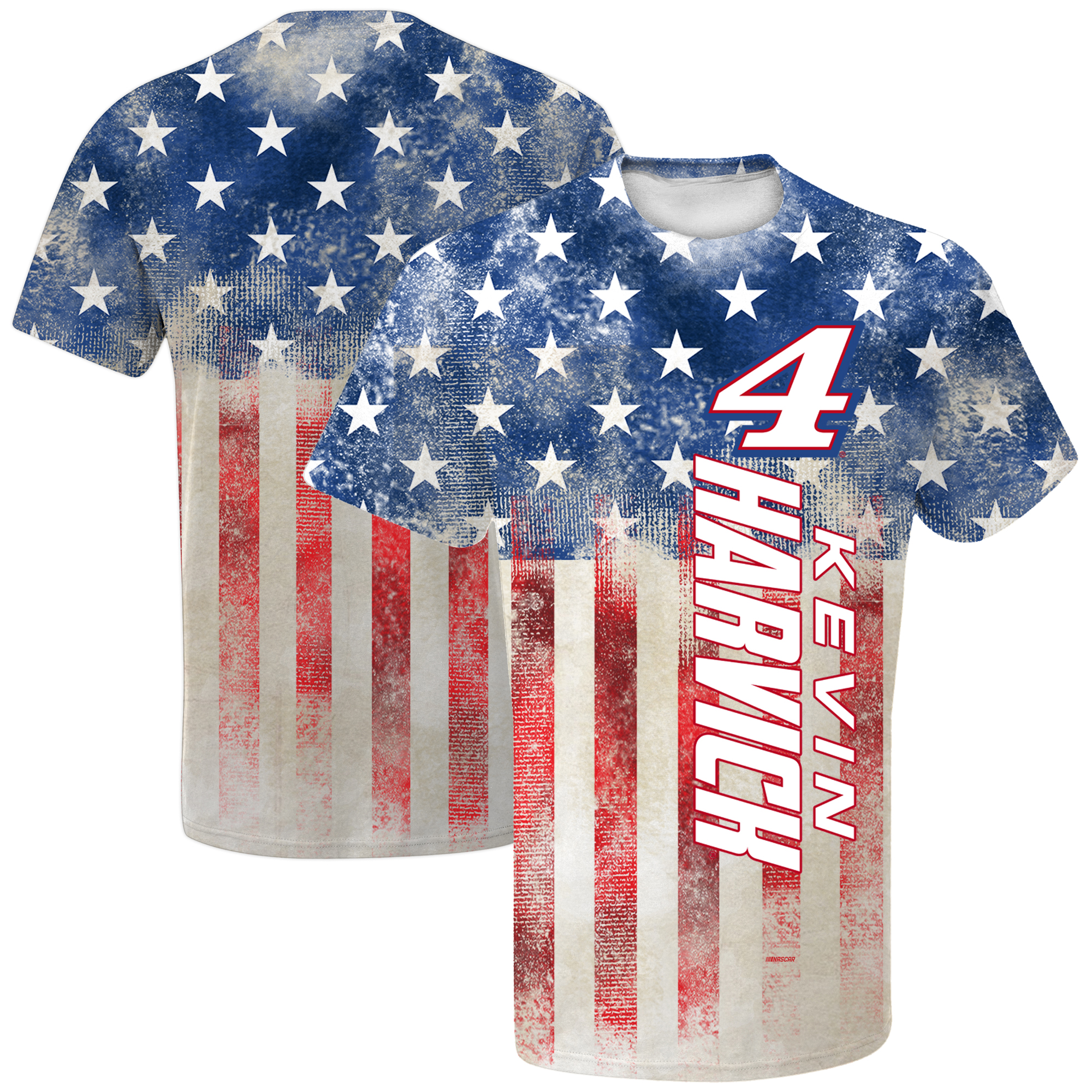 Kevin Harvick Youth Patriotic Sublimated T-Shirt - Red/Navy