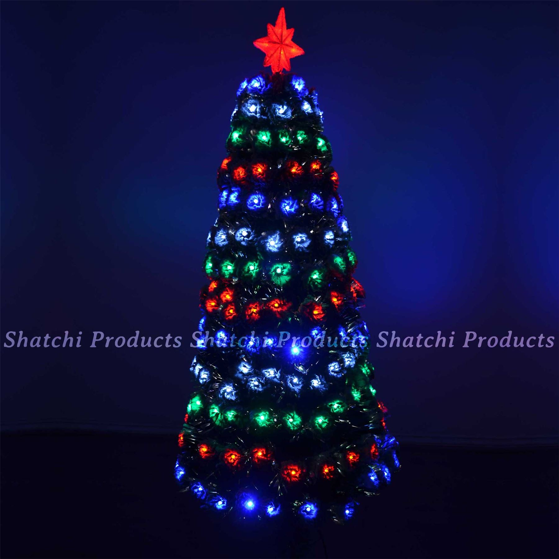 6ft 180cm led pre lit fibre optic christmas tree snow covered tips xmas decor walmartcom