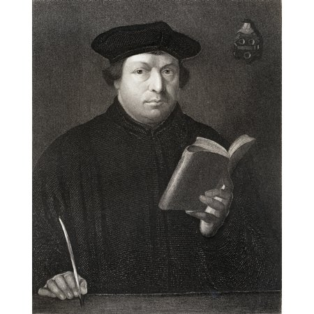 Martin Luther 1483-1546 German Theologian And Religious Reformer From The Book Gallery Of Portraits  Published London 1833 Stretched Canvas - Ken Welsh  Design Pics (13 x 17)