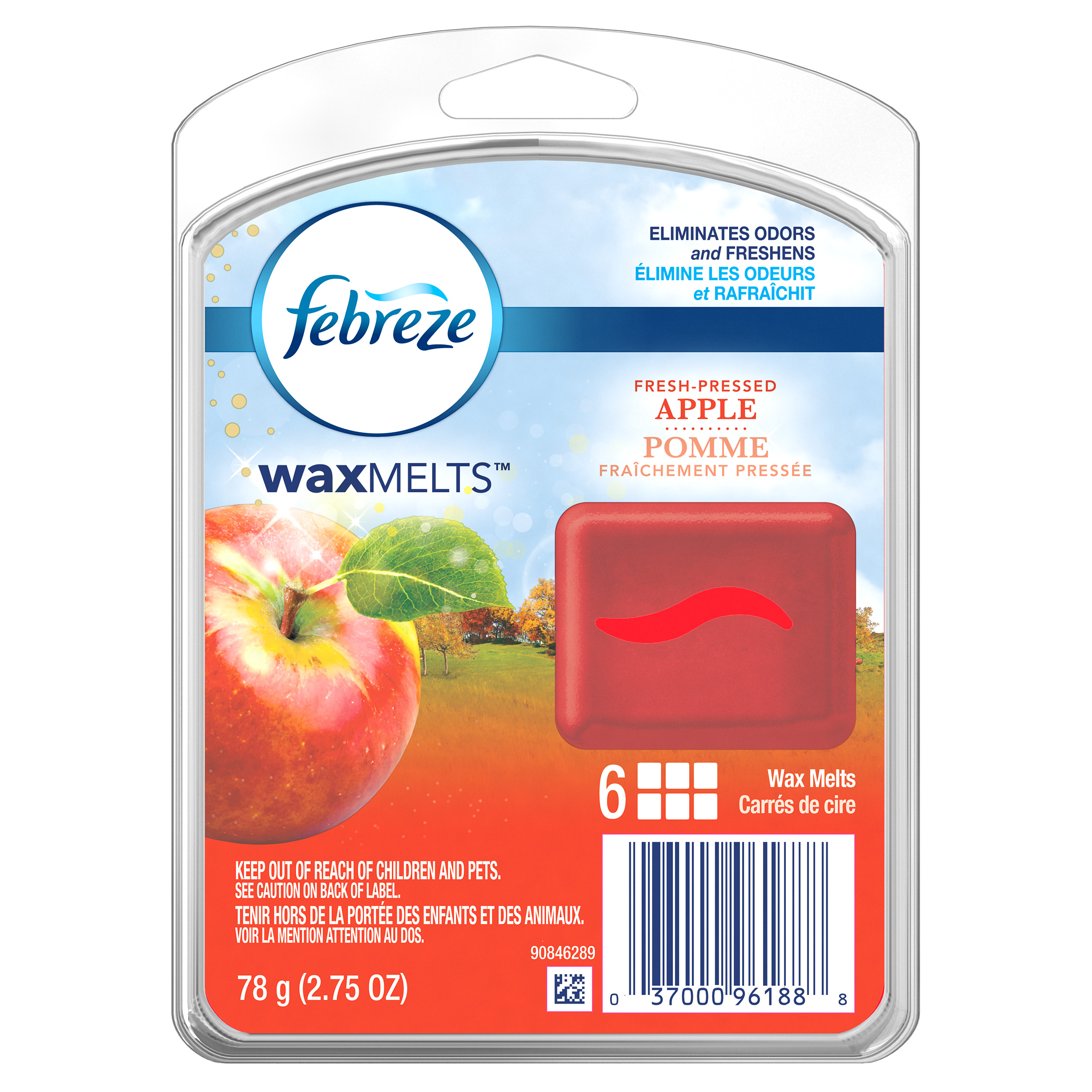 Febreze Wax Melts Fresh Pressed Apple Air Freshener (1 Count, 2.75 oz)