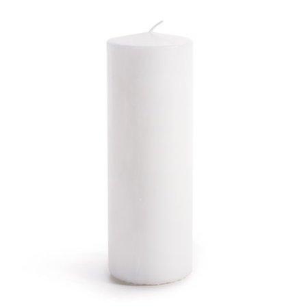 Pillar Candles Unscnt White 3X8