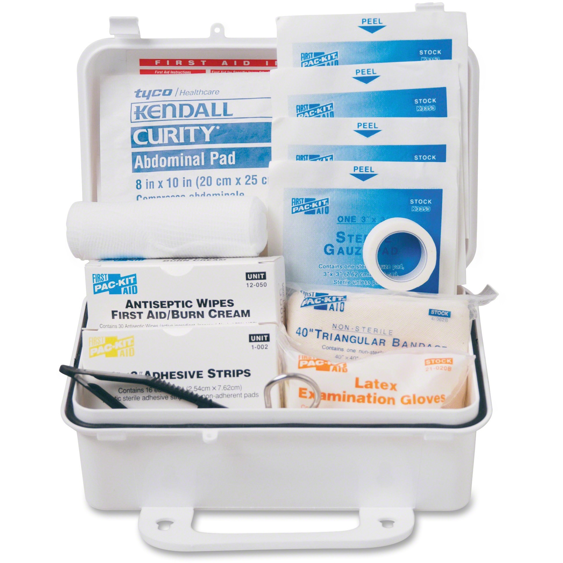 Pac-Kit, PKT6060, Safety Equipment 10-person First Aid Kit, 1 / Kit, White