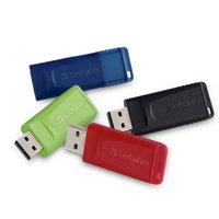 Verbatim 16GB Store 'n' Go USB Flash Drive - 4pk - Blue, Green, Red, Black