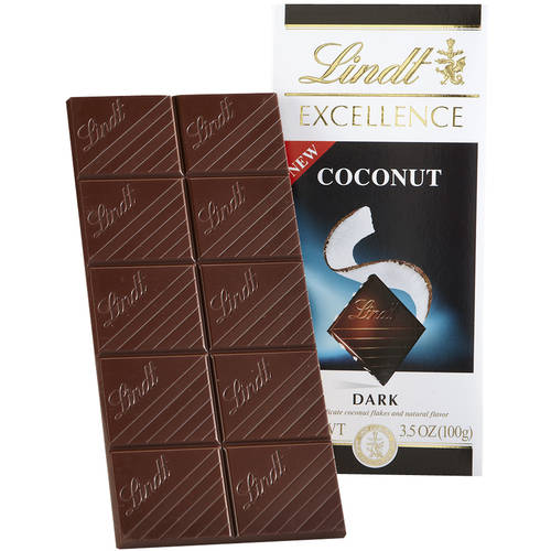 Lindt Excellence Coconut Dark Chocolate, 3.5 oz
