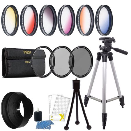 58mm Color Filter + UV CPL ND Accessory Kit Canon EOS Rebel T6i T6 T6s T5i T5