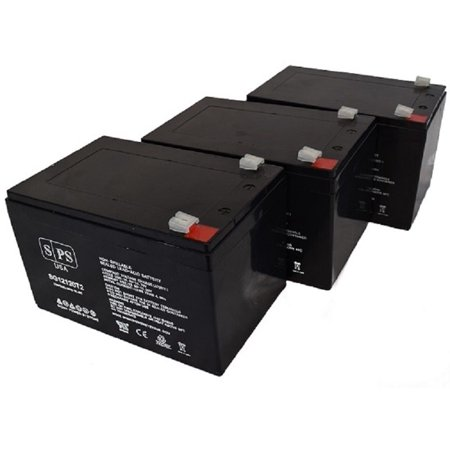 SPS Brand 12V 12Ah Replacement Battery for Kaddy O Matic 468 Caddy Bug Motorcaddy & Golf Caddy (3 Pack)